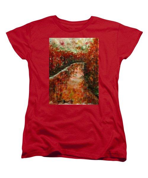Changing Room Women's T-Shirt (Standard Cut) by Lisa Aerts