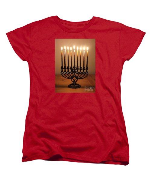 Chanukiah Women's T-Shirt (Standard Cut)
