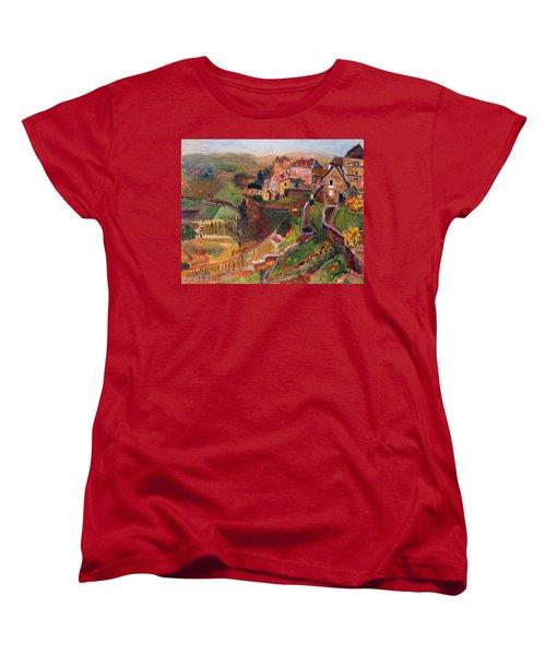 Chateau Chalon Women's T-Shirt (Standard Cut) by Michael Helfen