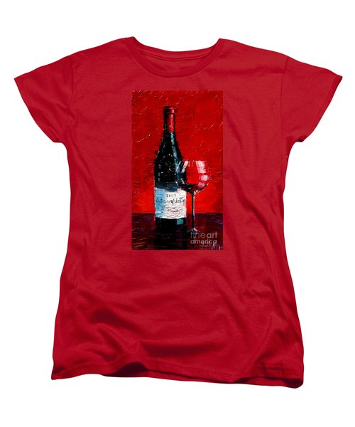 Still Life With Wine Bottle And Glass I Women's T-Shirt (Standard Cut)