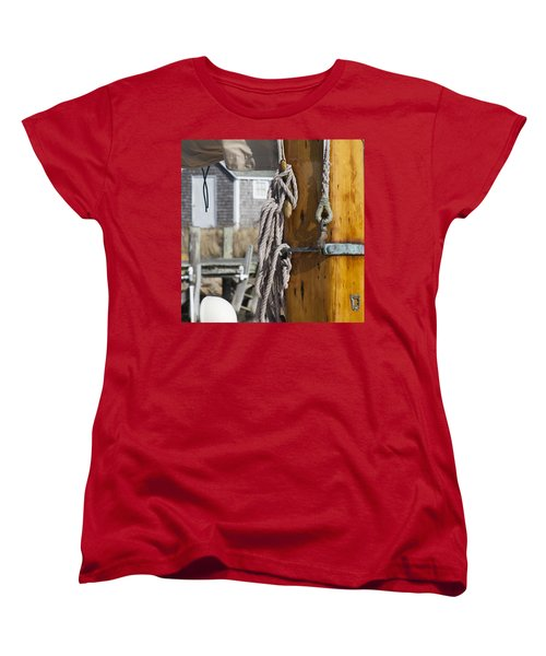 Women's T-Shirt (Standard Cut) featuring the photograph Chatham Old Salt by Charles Harden