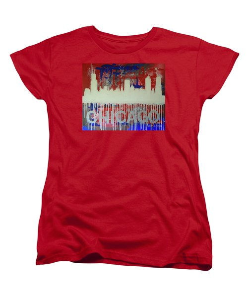Chicago Drip Women's T-Shirt (Standard Cut) by Melissa Goodrich
