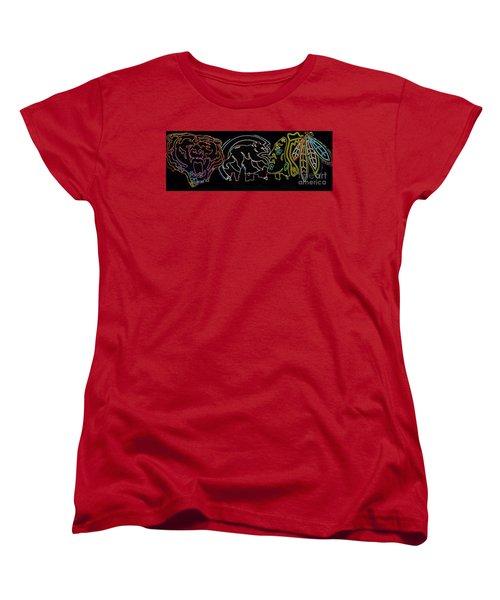 Chicago Sports Women's T-Shirt (Standard Cut) by Steven Parker