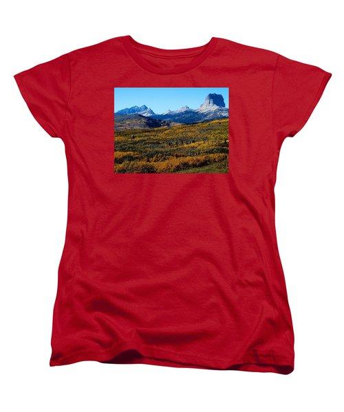 Chief Mountain In The Fall Women's T-Shirt (Standard Cut)
