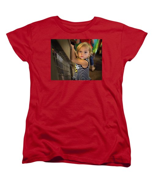 Women's T-Shirt (Standard Cut) featuring the photograph Child In The Light by Bill Pevlor