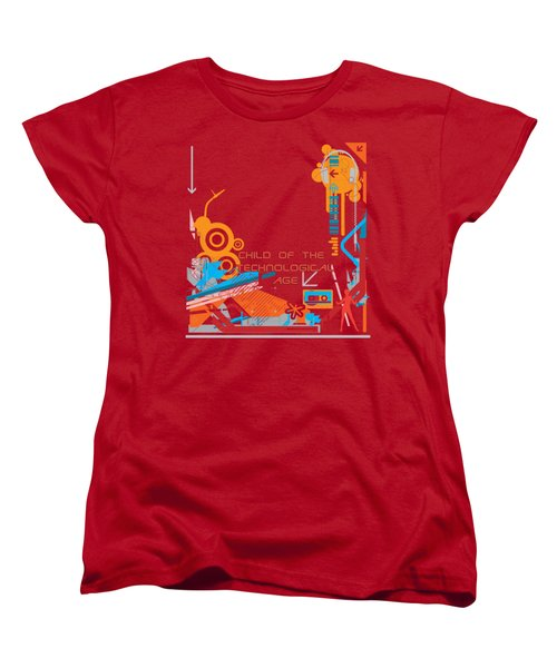 Child Of The Technological Age Women's T-Shirt (Standard Cut) by Paulette B Wright
