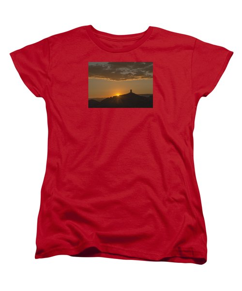 Chimney Rock Sunset Women's T-Shirt (Standard Cut) by Laura Pratt