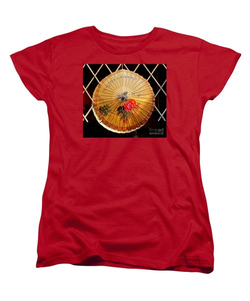 Women's T-Shirt (Standard Cut) featuring the photograph Chinese Hand-painted Oil-paper Umbrella by Yali Shi