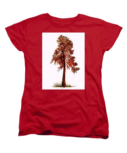 Chinese Pine Tree Drawing Women's T-Shirt (Standard Cut)