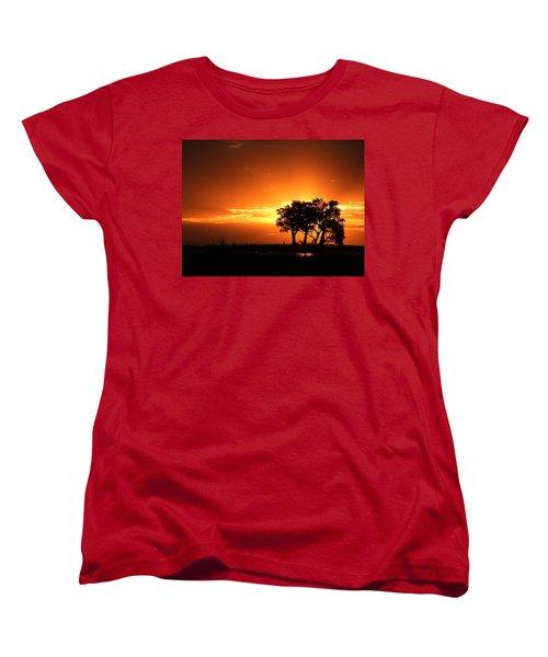 Women's T-Shirt (Standard Cut) featuring the photograph Chobe River Sunset by Betty-Anne McDonald