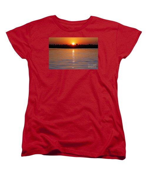 Women's T-Shirt (Standard Cut) featuring the photograph Chobe River Sunset by Myrna Bradshaw