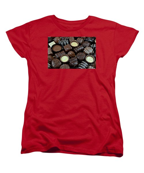 Women's T-Shirt (Standard Cut) featuring the photograph Chocolates by Vivian Krug Cotton
