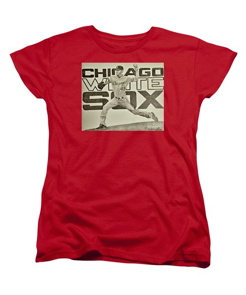 Chris Sale Women's T-Shirt (Standard Cut) by Melissa Goodrich
