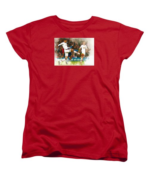 Chris Smalling  In Action  Women's T-Shirt (Standard Cut) by Don Kuing