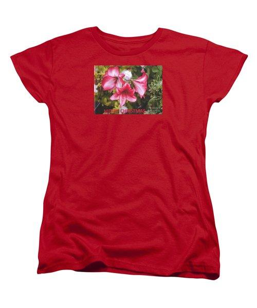 Christmas Card - Amorillis Women's T-Shirt (Standard Cut)