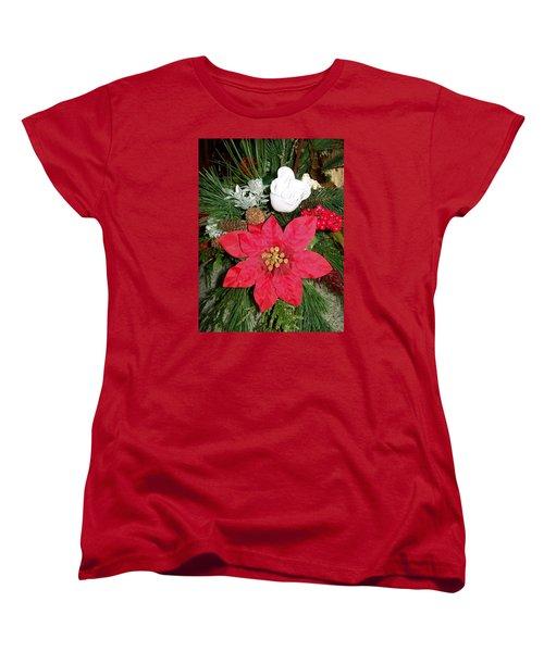 Christmas Centerpiece Women's T-Shirt (Standard Cut) by Sharon Duguay