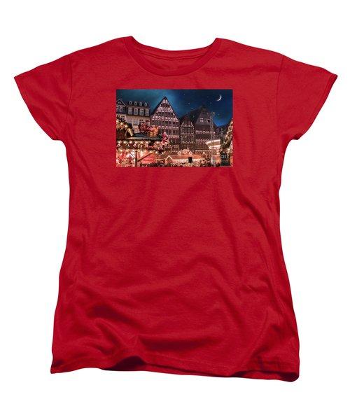 Women's T-Shirt (Standard Cut) featuring the photograph Christmas Market by Juli Scalzi