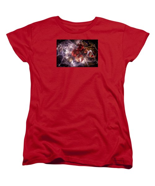 Women's T-Shirt (Standard Cut) featuring the photograph Christmas Ornamments by Ray Congrove