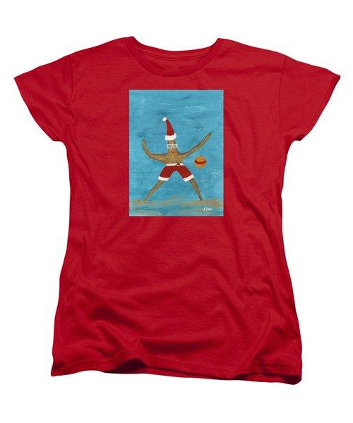 Christmas Starfish Women's T-Shirt (Standard Cut) by Jamie Frier