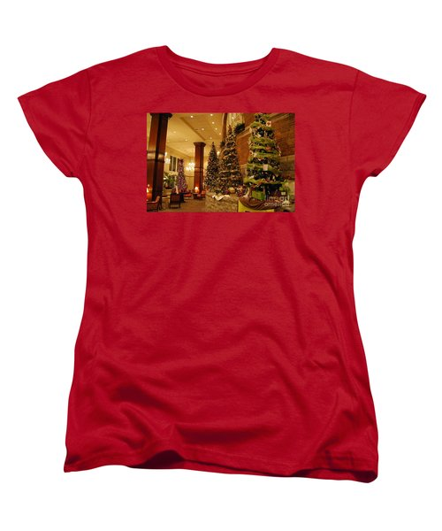 Christmas Tree Women's T-Shirt (Standard Cut) by Eric Liller