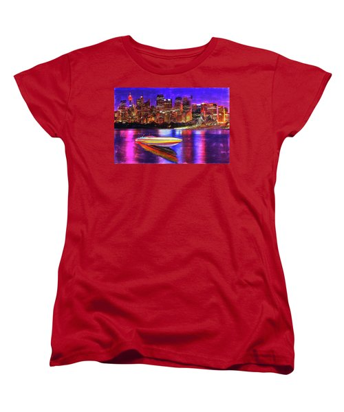 Women's T-Shirt (Standard Cut) featuring the painting Cigarette Calm by Michael Cleere