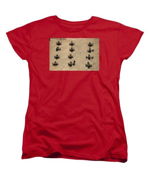 Cincinnati - Fountain Square Sepia Women's T-Shirt (Standard Cut) by Frank Romeo