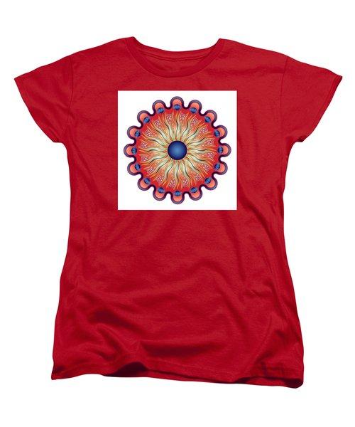Women's T-Shirt (Standard Cut) featuring the digital art Circularium No 2664 by Alan Bennington