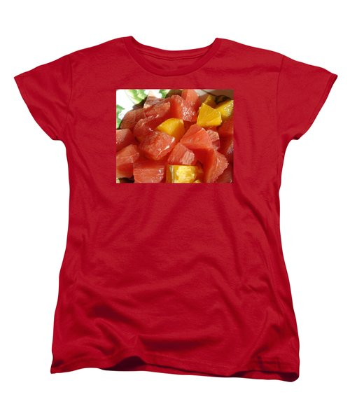 Women's T-Shirt (Standard Cut) featuring the digital art Citrus In Winter by Jana Russon