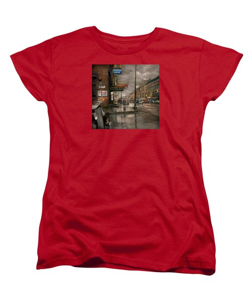 City - Amsterdam Ny -  Call 666 For Taxi 1941 Women's T-Shirt (Standard Cut) by Mike Savad