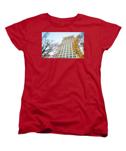 Women's T-Shirt (Standard Cut) featuring the photograph City Federal Building In Autumn - Birmingham, Alabama by Shelby Young