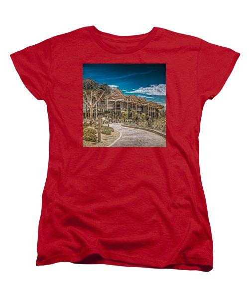 Newport Beach California City Hall Women's T-Shirt (Standard Cut) by TC Morgan