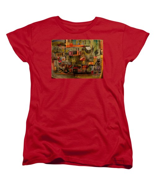 Evening Out Women's T-Shirt (Standard Cut) by Nancy Kane Chapman