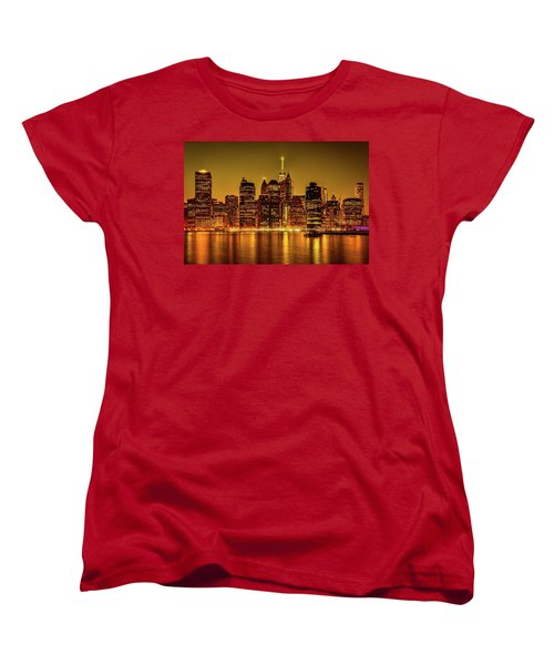Women's T-Shirt (Standard Cut) featuring the photograph City Of Gold by Chris Lord