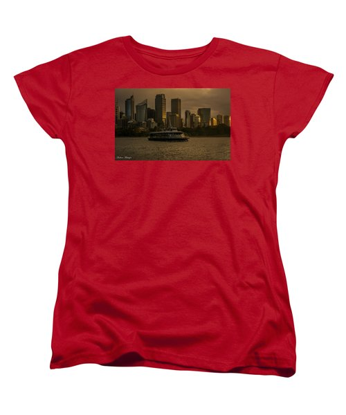 Women's T-Shirt (Standard Cut) featuring the photograph City Skyline  by Andrew Matwijec