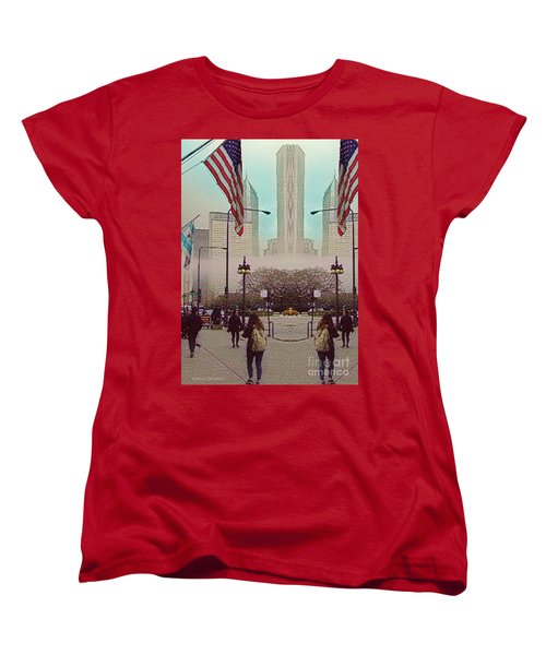 Cityscape With A Bit Of Fog Women's T-Shirt (Standard Cut) by Kathie Chicoine