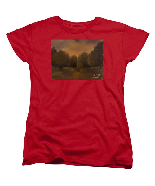 Clapham Common At Dusk Women's T-Shirt (Standard Cut) by Genevieve Brown