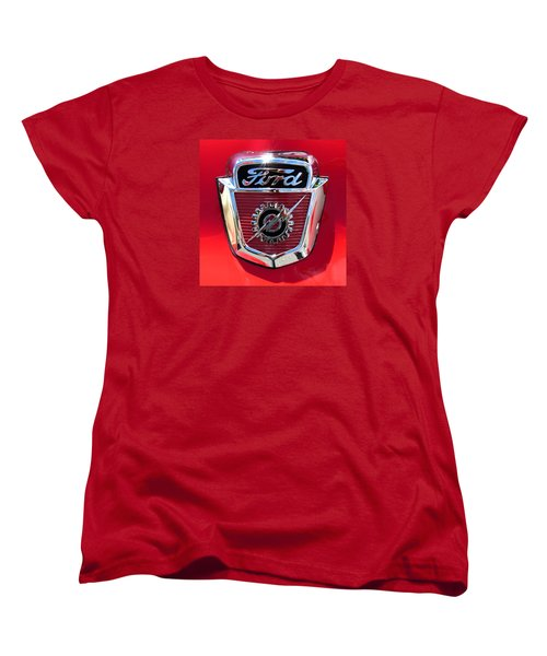 Classic Ford Logo Women's T-Shirt (Standard Cut) by Spyder Webb