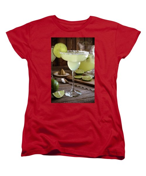 Women's T-Shirt (Standard Cut) featuring the photograph Classic Lime Margaritas On The Rocks by Teri Virbickis