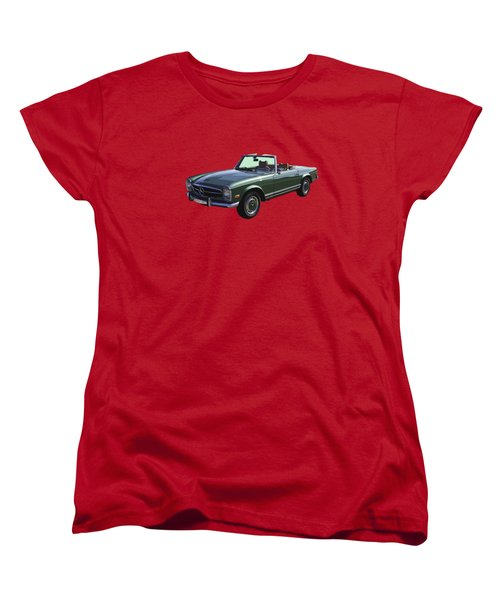 Classic Mercedes Benz 280 Sl Convertible Automobile Women's T-Shirt (Standard Cut) by Keith Webber Jr