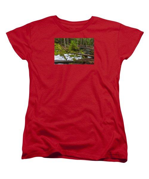 Clearwater Creek Rapids Women's T-Shirt (Standard Cut) by Greg Nyquist
