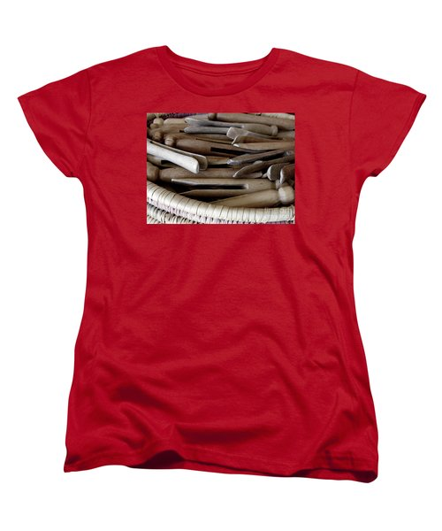 Clothes-pins Women's T-Shirt (Standard Cut) by Lainie Wrightson