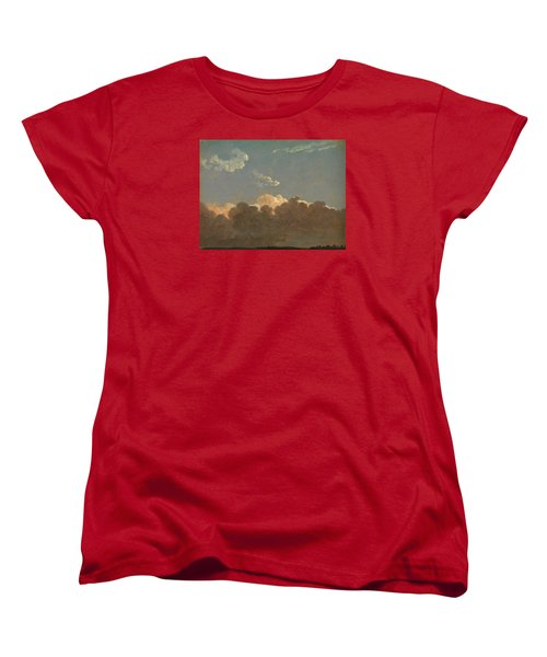 Women's T-Shirt (Standard Cut) featuring the painting Cloud Study. Distant Storm by Simon Denis