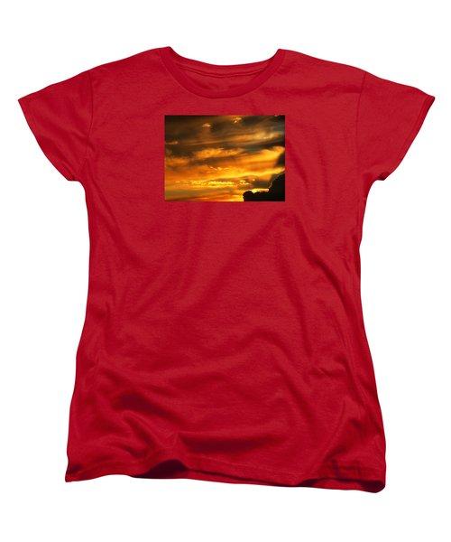 Clouded Sunset Women's T-Shirt (Standard Cut) by Kyle West