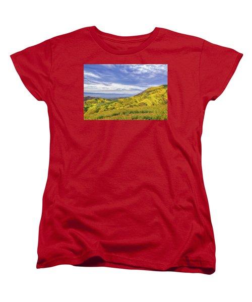Women's T-Shirt (Standard Cut) featuring the photograph Clouds Above Temblor Range by Marc Crumpler