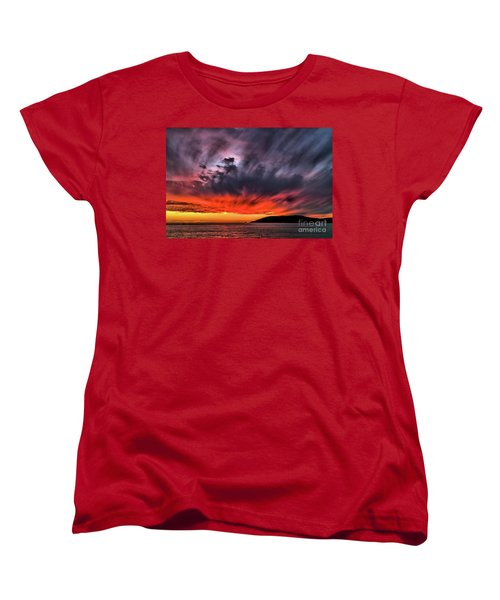 Clouds In Motion Before The Storm Women's T-Shirt (Standard Cut) by Vivian Krug Cotton