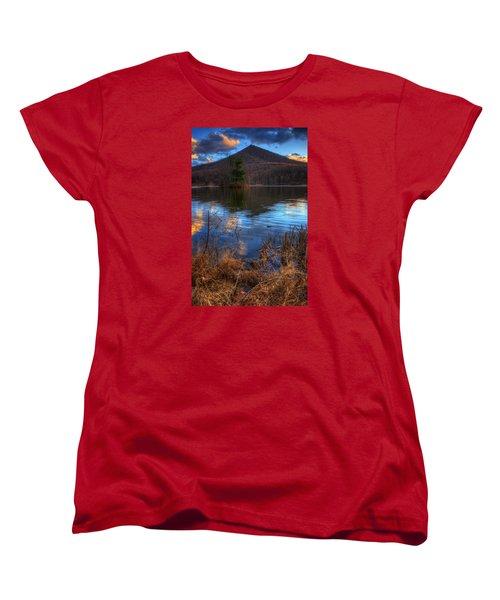 Clouds On Abbott Lake Women's T-Shirt (Standard Cut) by Steve Hurt