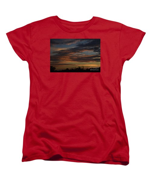Women's T-Shirt (Standard Cut) featuring the photograph Cloudy Kansas Evening by Mark McReynolds