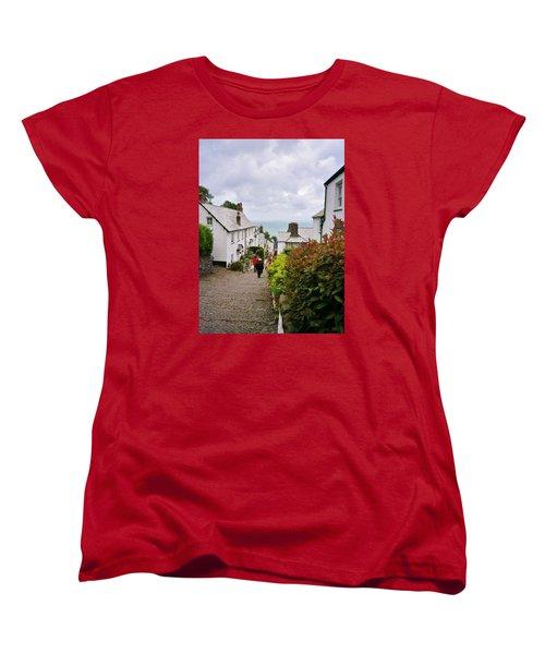 Clovelly High Street Women's T-Shirt (Standard Cut) by Richard Brookes
