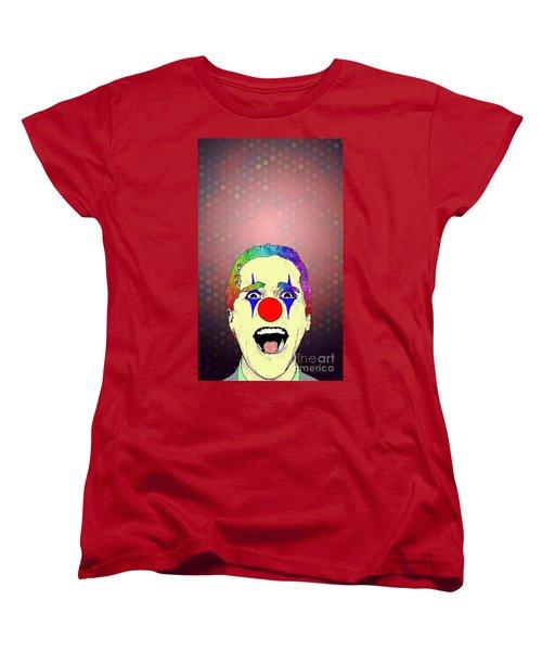clown Christian Bale Women's T-Shirt (Standard Cut) by Jason Tricktop Matthews