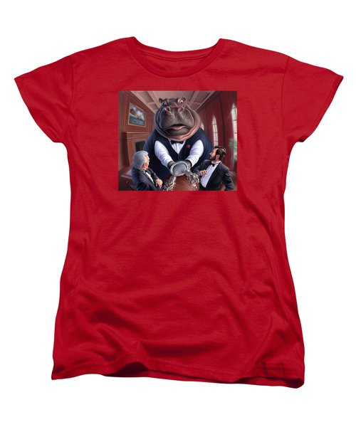 Clumsy Women's T-Shirt (Standard Cut) by Jerry LoFaro